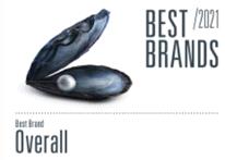 Visuel de la récompense Best Brands Overall reçue en 2021 par Compo