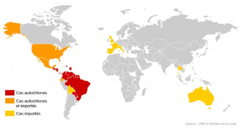 carte virus zika