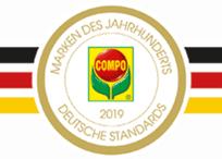 Visuel de la récompense Marque du siècle reçue par Compo en 2019